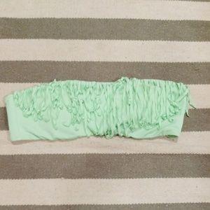 Victoria's Secret Green Band Bikini Top Fringe